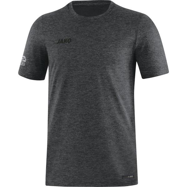 Jako T-Shirt Premium Basics Herren anthrazit meliert